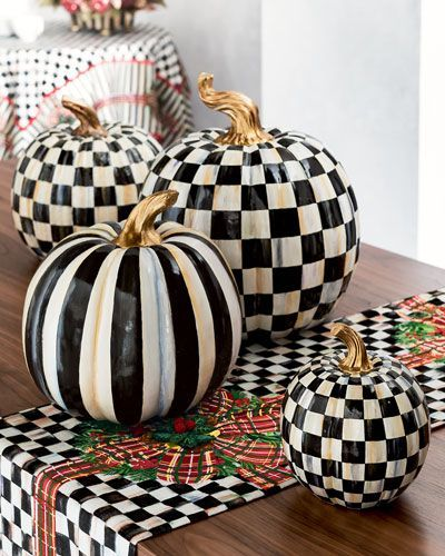 MacKenzie-Childs Courtly Check & Courtly Stripe Pumpkins | For the ...