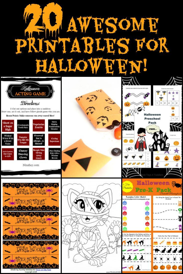 20 Free Halloween Printables for Family Fun Activities | Holiday ...