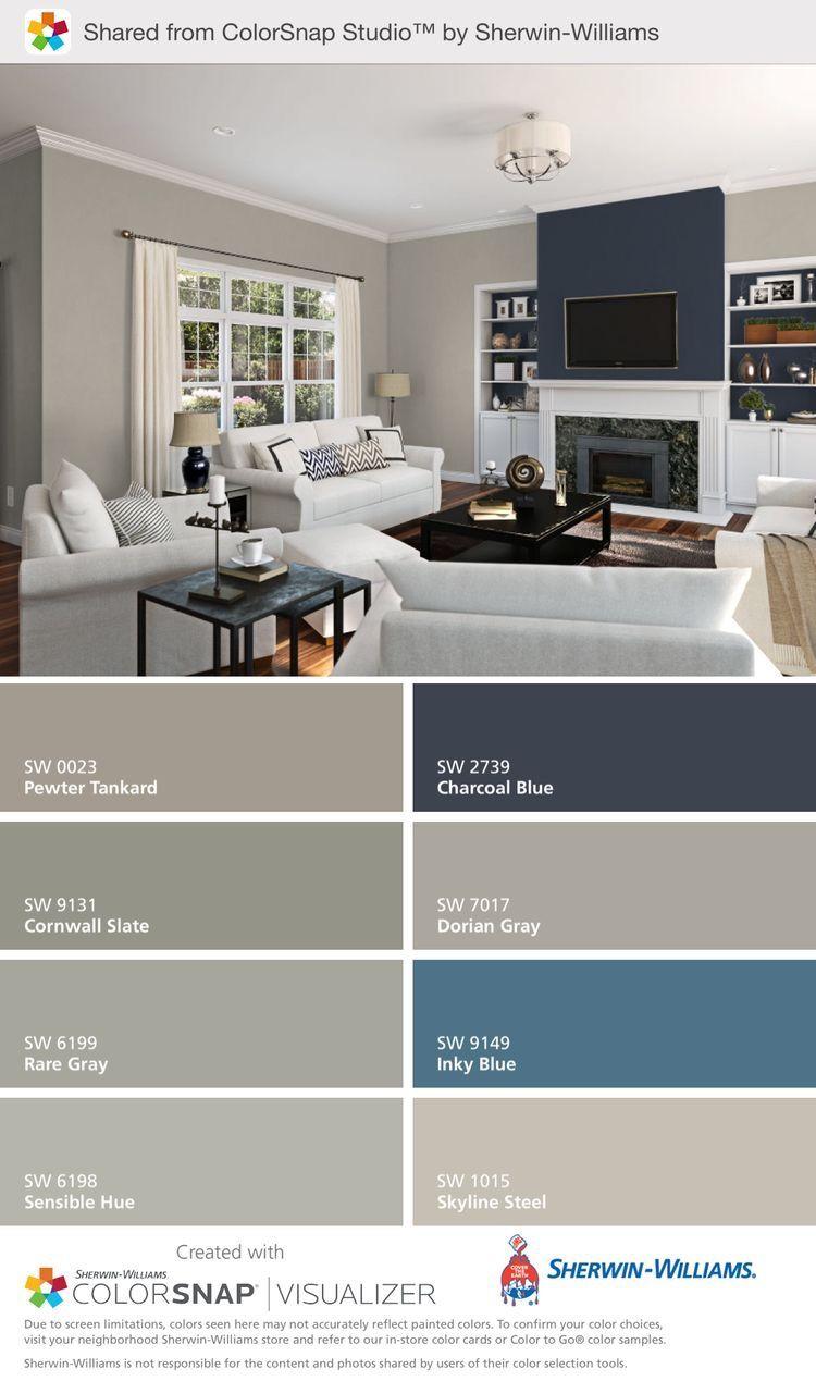Living Room Blue Taupe Colour Palette Paint Colors For Living Room Interior House Colors Interior Paint Colors For Living Room View home living room color ideas