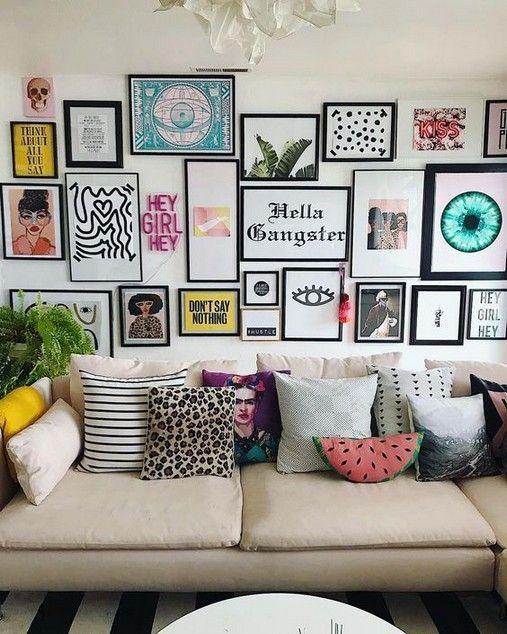 43 Ideen So schmücken Sie das Sofa an der Wand. Wohnzimmer gemütlich#designe #... - Welcome to Blog