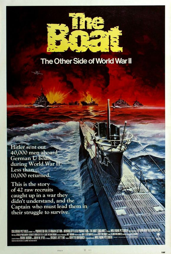 Das Boot , starring Jürgen Prochnow, Herbert Grönemeyer, Klaus Wennemann, Hubertus Bengsch. The claustrophobic world of a WWII German U-boat; boredom, filth, and sheer terror. #Action #Adventure #Drama #History #War
