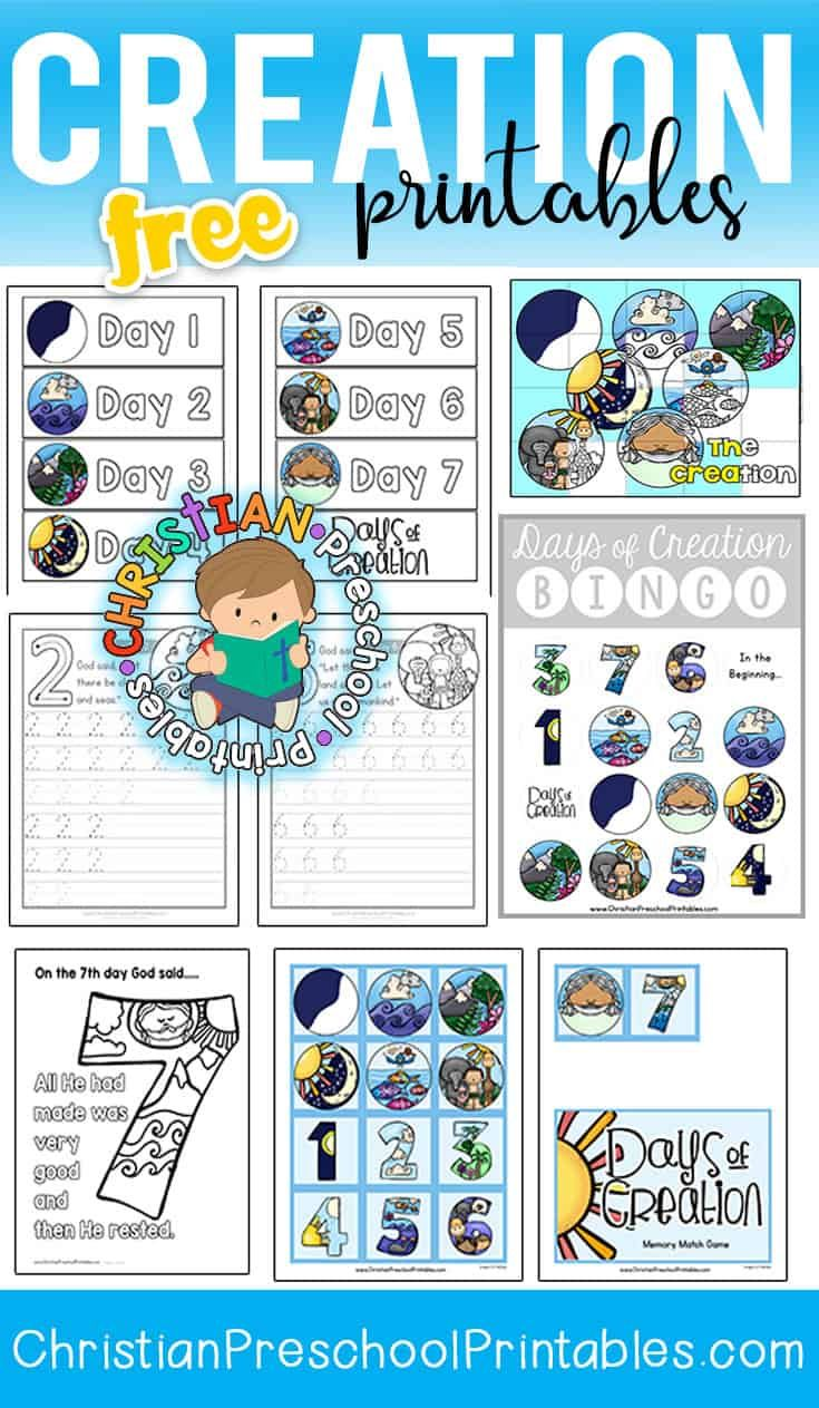 Free Days of Creation Printables