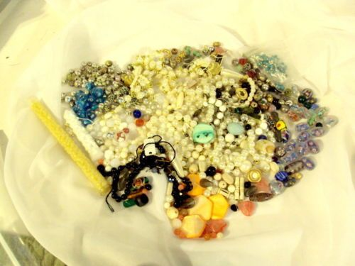 1 LB PLUS Lot of Mixed Beads, Sterling, MOP, Glass, Spacers and More