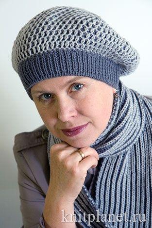 как связать берет спицами шапки шарфики и перчатки вязание