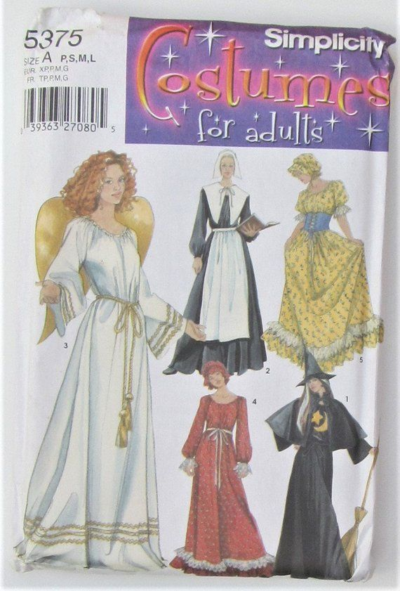 Angel Witch Pilgrim Frontier Halloween Size Petite Sml Med Lrg Adult ...