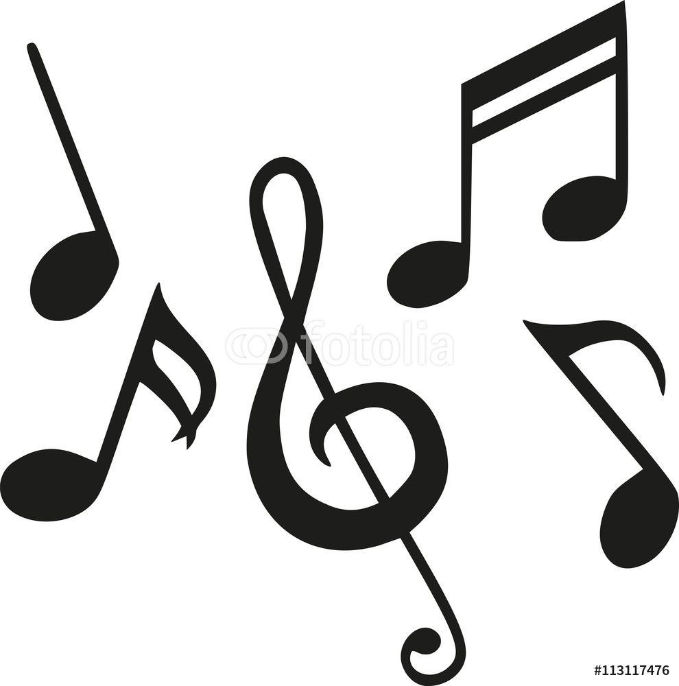 Naklejki na ścianę - Set of music notes #113117476 | Music ...