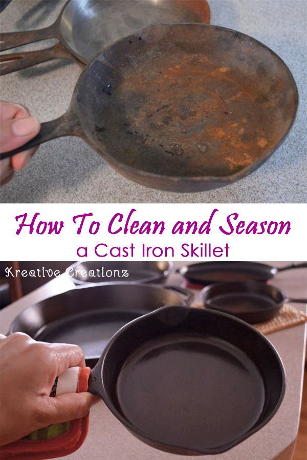 How To Clean And Season A Cast Iron Skillet Projects