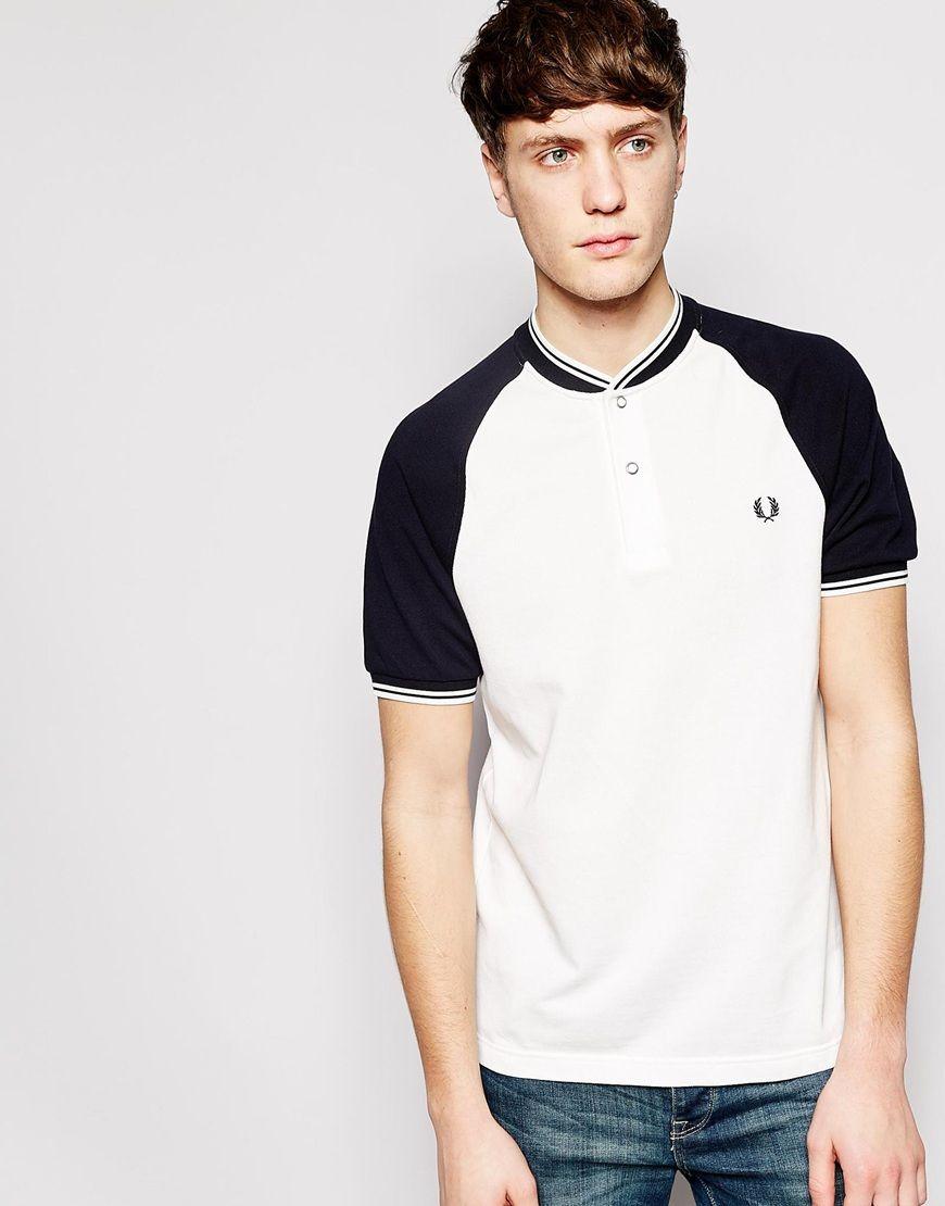 03fb9c8438b Fred Perry Polo Shirt with Bomber Neckline Slim Fit | Man Fashion ...