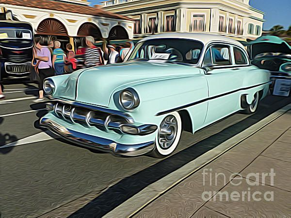 Classic Cars - 1954 Chevy 210 Canvas Print / Canvas Art by Jason ...