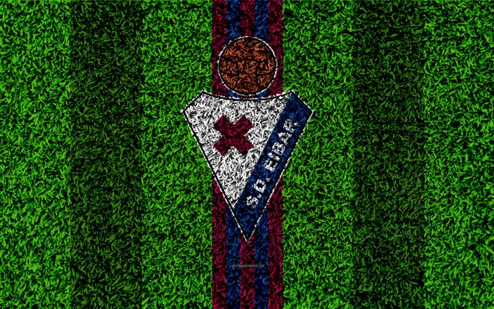 T l charger fonds d 39 cran sd eibar 4k logo football pelouse espagnol club de football bleu - Logo club foot espagnol ...