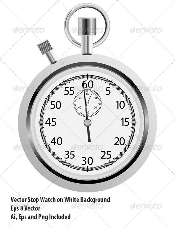 Stopwatch Stopwatch Metal Vector