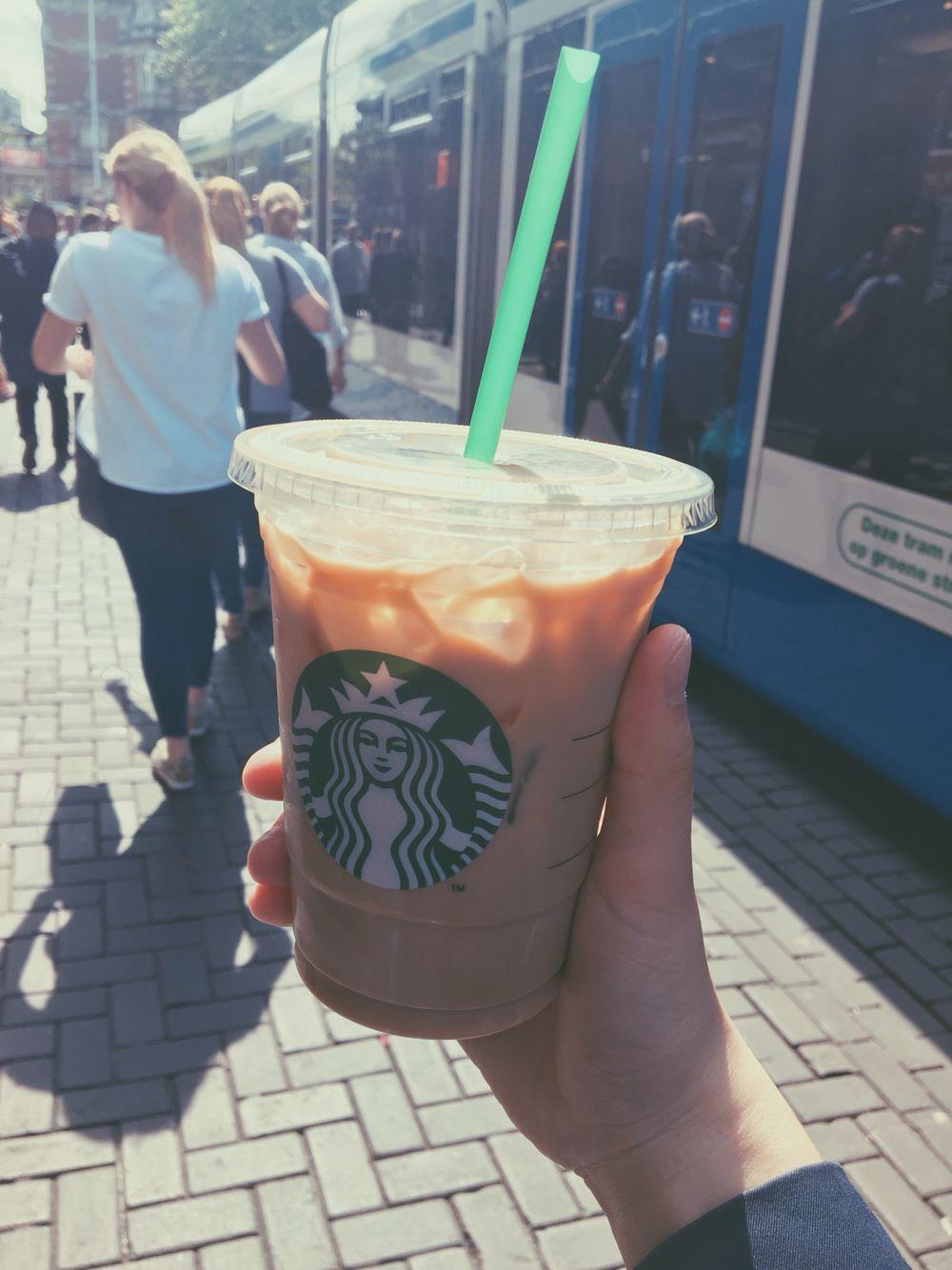 Starbucks in Amsterdam.