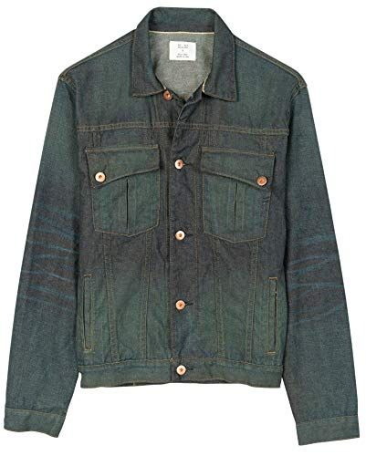 Billy Reid Mens Copper Button Selvedge Denim Clayton Jacket
