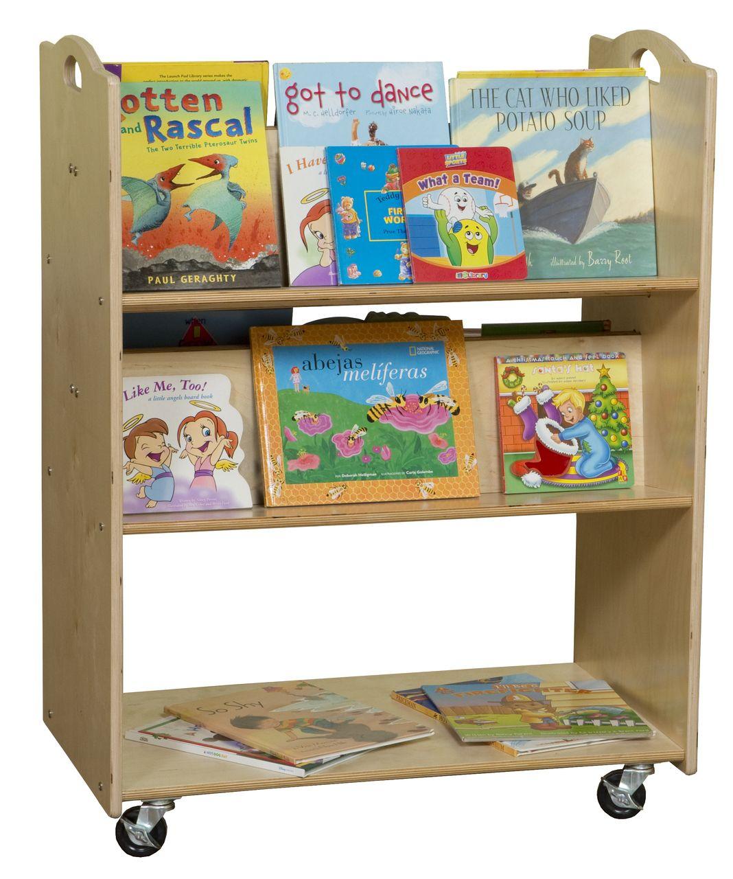 C990648 Mobile Library Cart Rta Teaching Wood Design