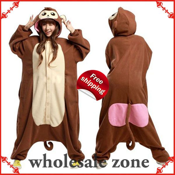 7c166a6e0a New Arrival Animal Baboon Monkey Pajamas Adult Kigurumi Onesie Unisex Women  Ladies Men Couple Sleepwear Halloween Party Costumes