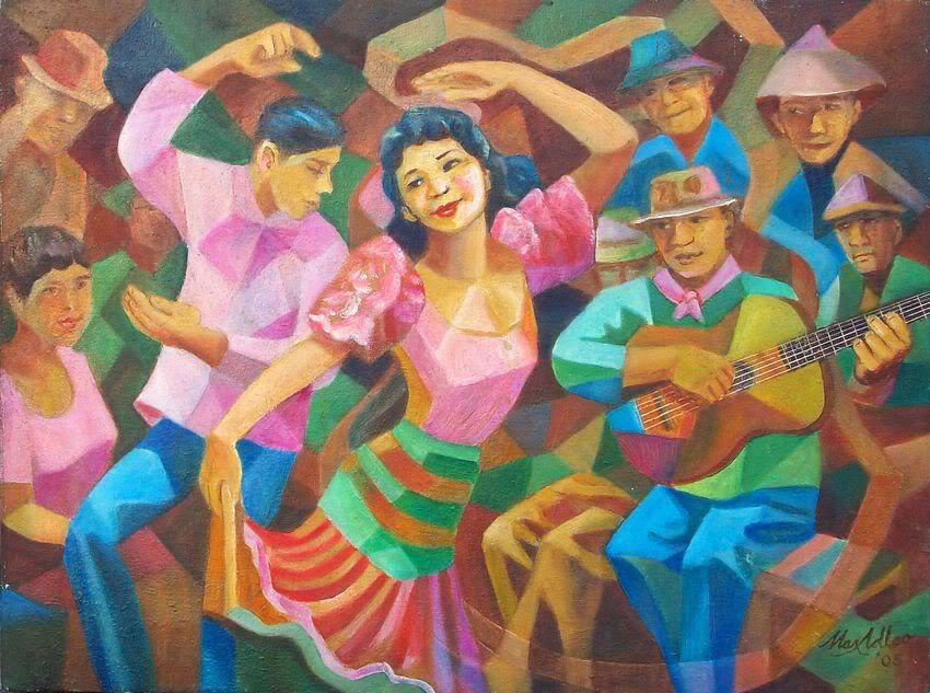 Max Adlao Carinosa Painting Filipino art, Philippine