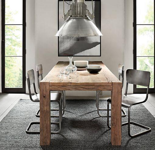 Mesas de madera maciza para el comedor Comedor Pinterest