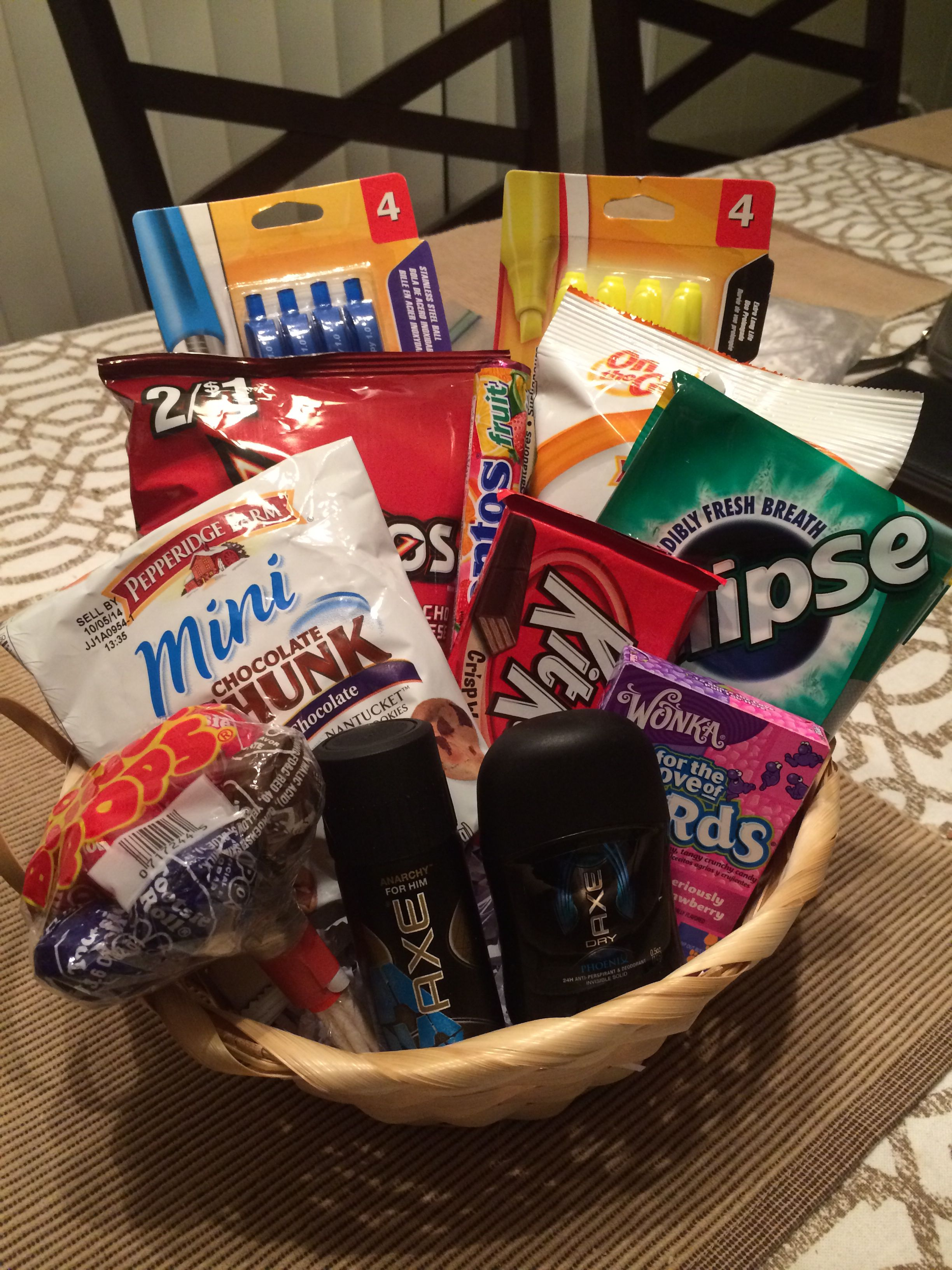 8th grade graduation gift for a boy  Gift Basket Ideas