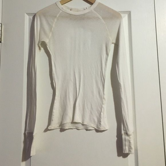 Abercrombie & Fitch Sheer Top Size medium. Slight blemishing. 100% cotton Abercrombie & Fitch Tops Tees - Long Sleeve
