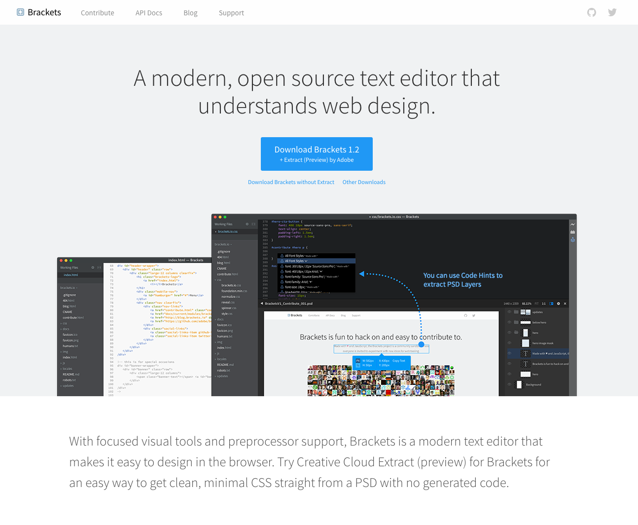 Brackets Io A Modern Open Source Text Editor That Understands Web Design Open Source Code Web Design Learning To Write