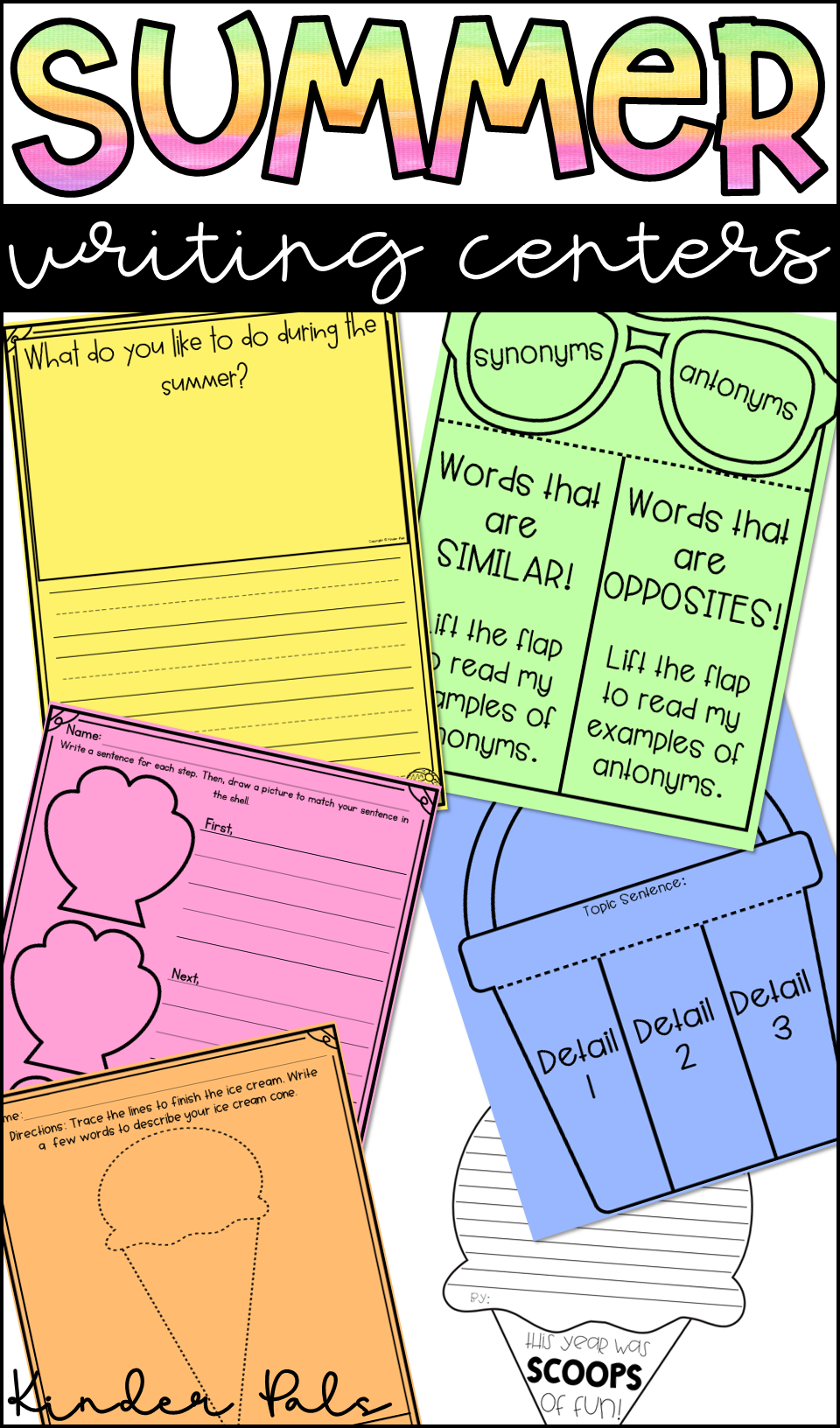 summer writing prompts and activities | teachers pay teachers k-2