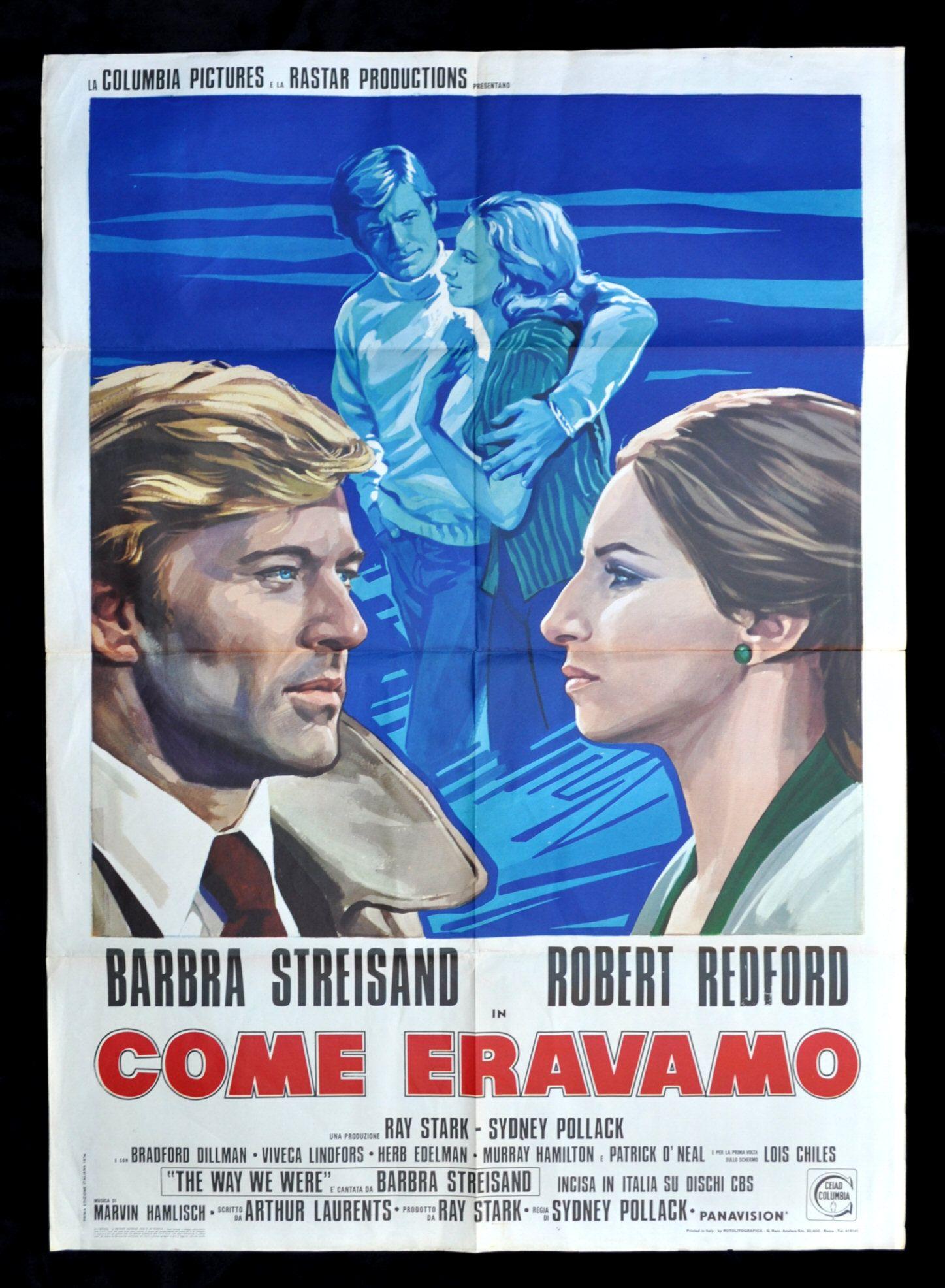 The Way We Were Movie Poster Streisand Redford (Italy)