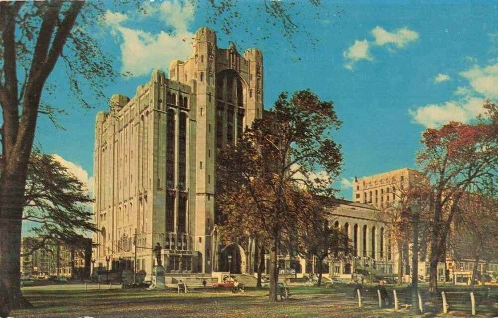 Details about postcard the masonic temple detroit michigan