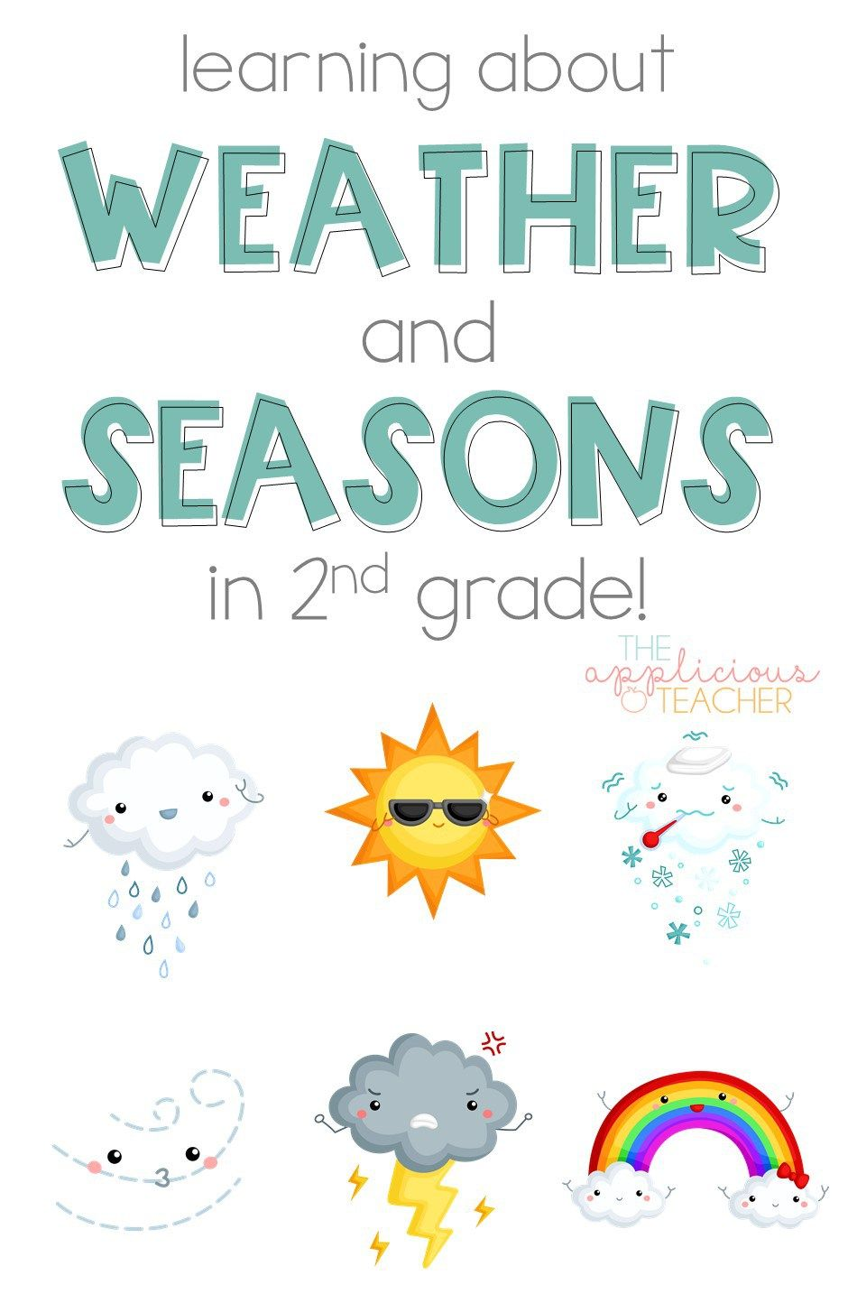 Learning About the Weather and Seasons in 2nd Grade   2nd grade activities [ 1444 x 950 Pixel ]