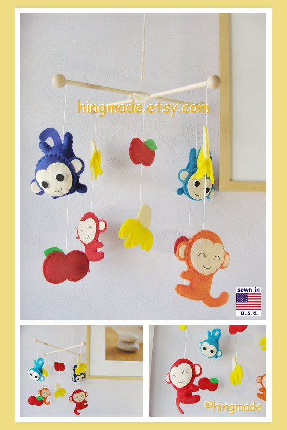 Baby Crib Mobile Red Airplane Fly In The Ivory Sky Theme