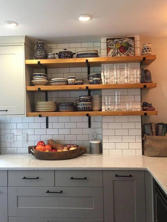 Metal Shelf Brackets Open Shelving Bracket Hardware Included Etsy Kitchen Renovation Kitchen Design Small Kitchen Remodel