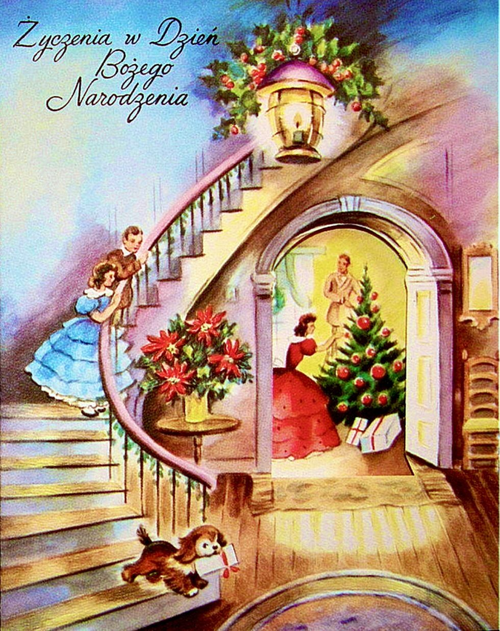 21 Polish Vintage 1940s & 1950s Christmas Cards Mint Unused With All ...