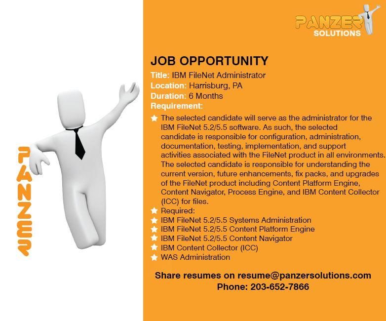 Ibm Filenet Administrator Job Opportunities Business Analyst Data Science