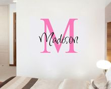 Custom Personalized Name girls/boys - Say Quote Word Lettering Art Vinyl Sticker Decal Home Decor Words(China (Mainland))
