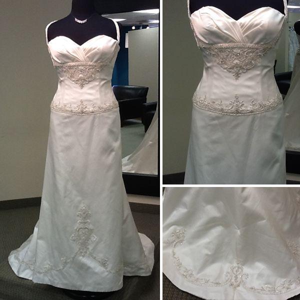 Piccione silk sheath wedding dress