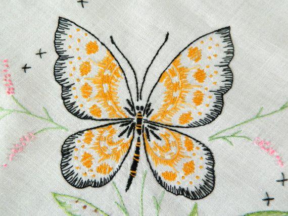 Vintage butterfly table runner dresser runner by 3SisterzJewelry, $8.00
