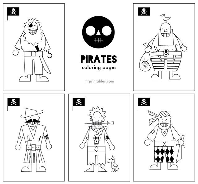 Ahoy All aboard to color in these goofy pirates Pirates coloring