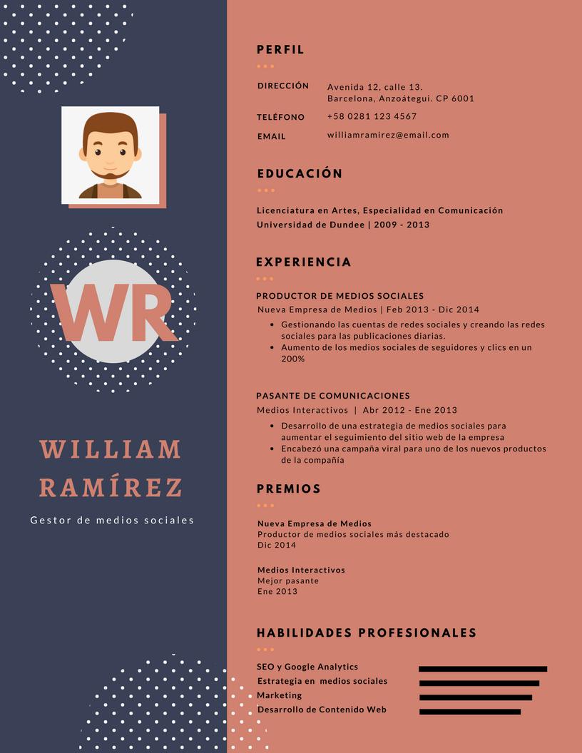 Desarrollo Y Venta De Curriculum Vitae Modelo CV 0001 2