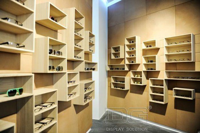 09492bbf9d Modern Wood Wall Shop Showcase Design for Eyeglass Display Showcase ...
