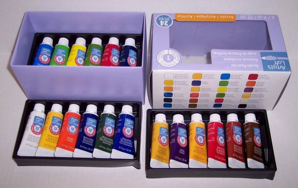 Artist Loft Acrylic Paint Set 24 Tubes New In Box Fast Drying Free