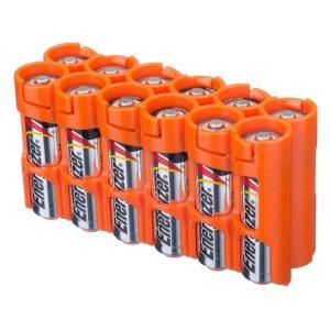 Storacell 12 Aa Pack Battery Organizer And Dispenser 12aaorg The Home Depot Organization Battery Cases Cool Electronics