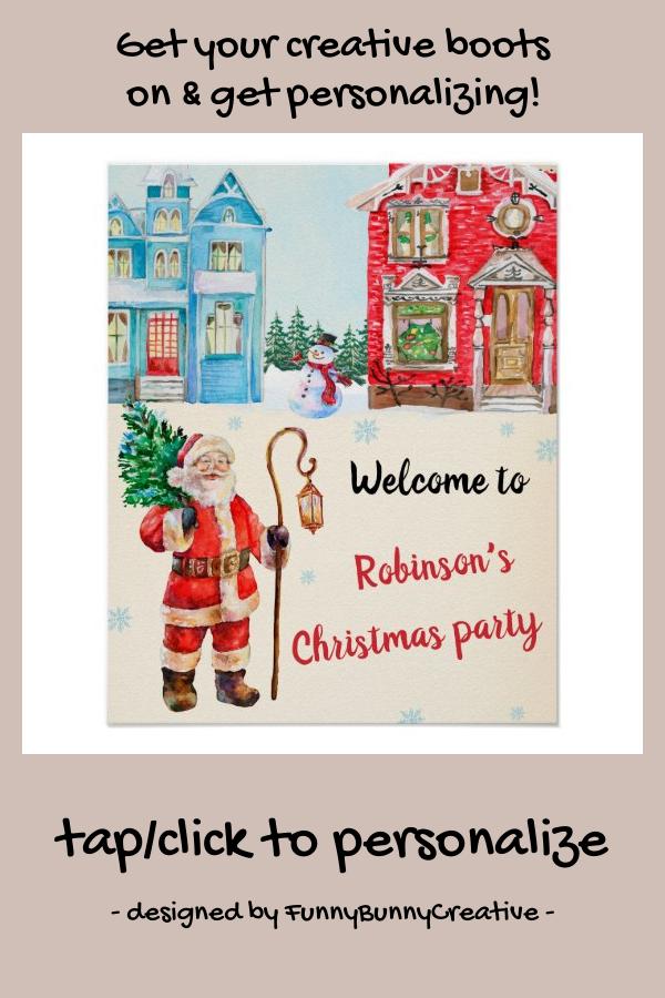 #promo Christmas welcome party sign Christmas poster #party #decor #party #decoration #christmas #affiliatelink #merrychristmassigns #merrychristmas #holidaysigns #christmasdecor
