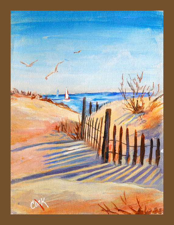 Beach Shadows Is The Sunday June 3 Youtube Release Paint These Summer Sand Dunes With Long Blue Shadows Rea Aquarell Landschaft Tutorial Malerei Hund Malen