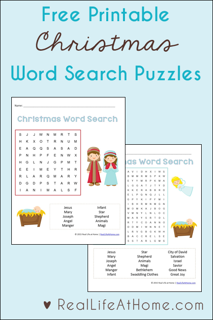 Christmas Word Search For Kids Free Printables With Two