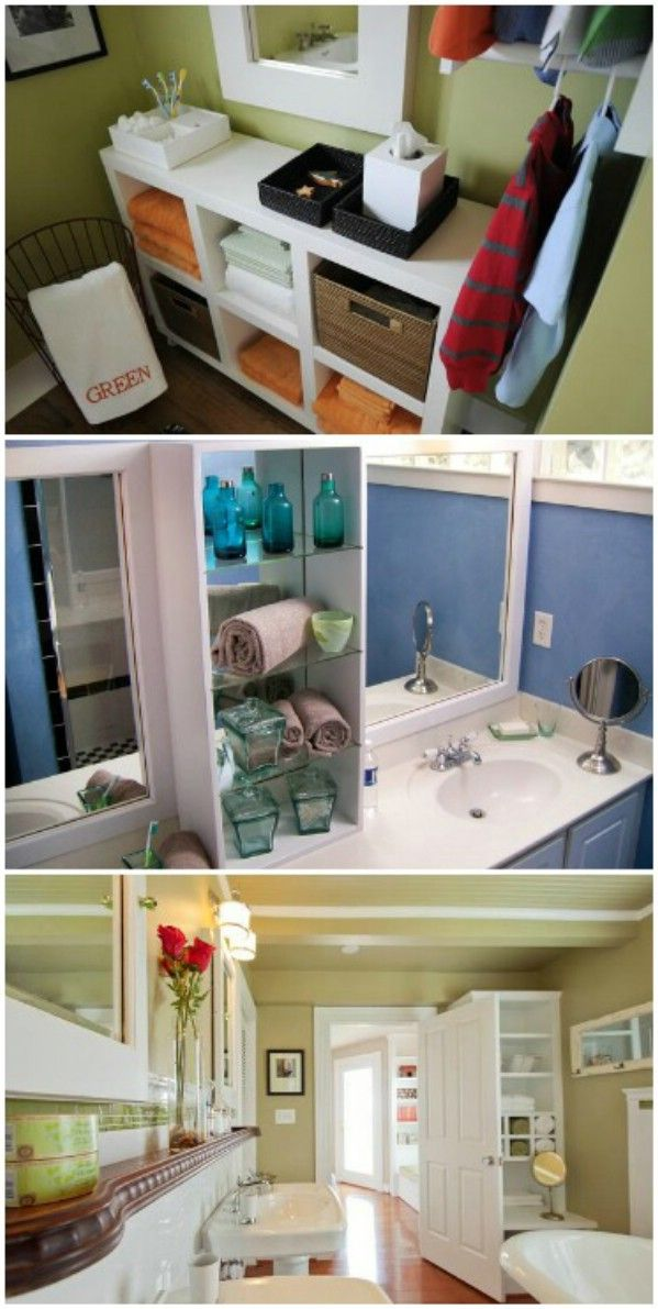 30 brilliant bathroom organization and storage diy solutions salles de bain pinterest. Black Bedroom Furniture Sets. Home Design Ideas