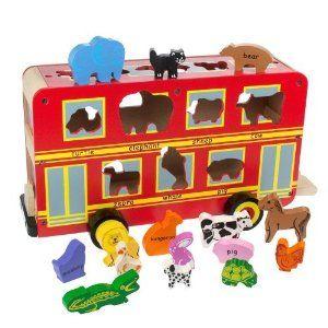 Bigjigs wooden bus £25