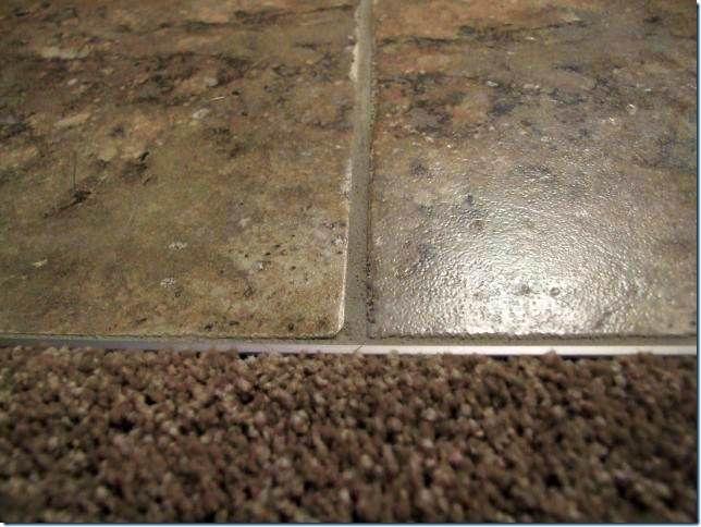 Tile Finishing Detail The Metal Strip Where It Meet Carpet