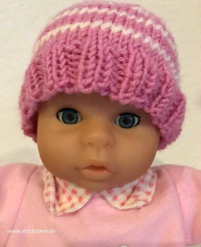 Puppenmütze stricken   Puppen   Pinterest   Puppen, Stricken und Mütze