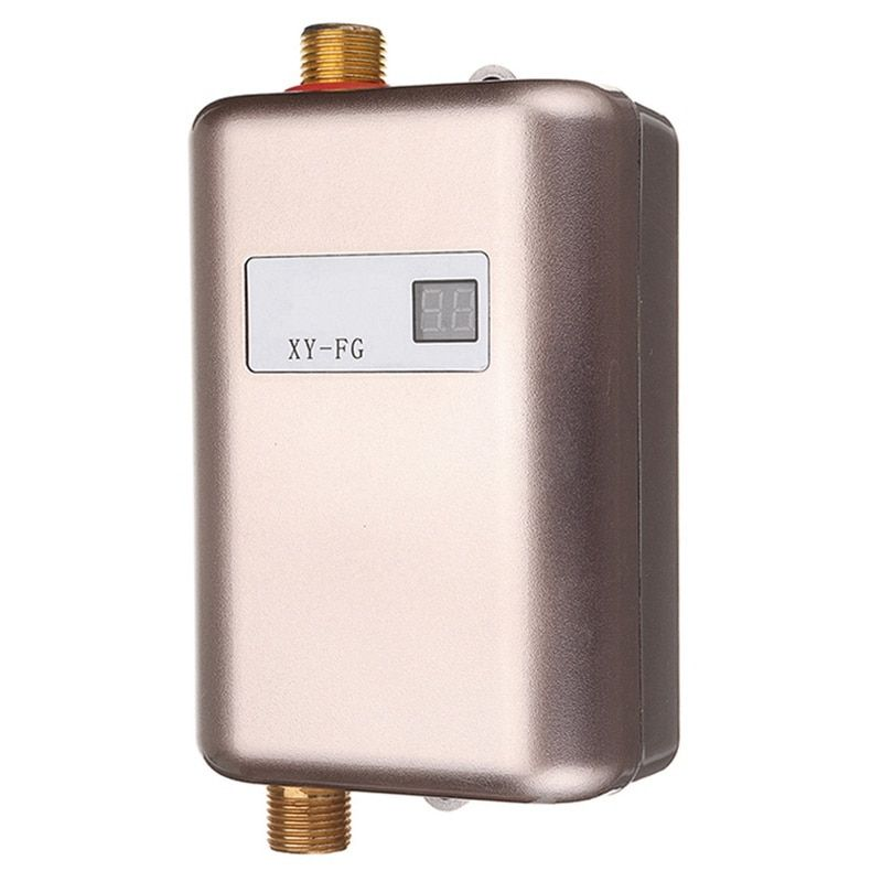 Eas 3800w Electric Water Heater Instant Tankless Water Heater 110v 220v 3 8kw Temperature Displa Tankless Water Heater Electric Water Heater Water Heater Parts