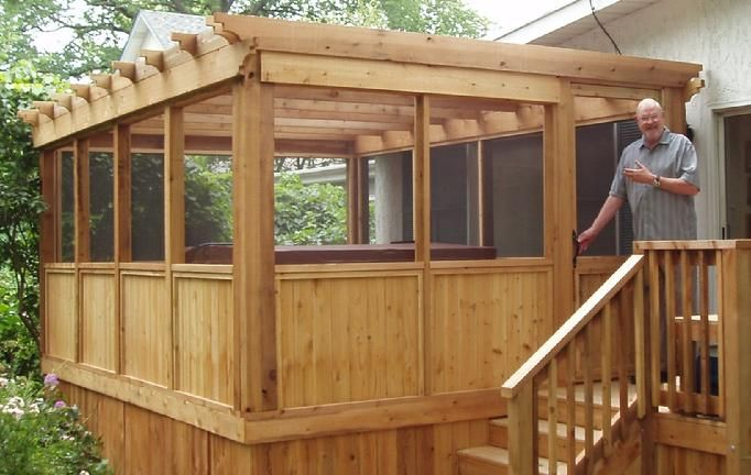 Screened in pergola, for Mike's back porch. - Screened In Pergola, For Mike's Back Porch. Build Me! Pinterest