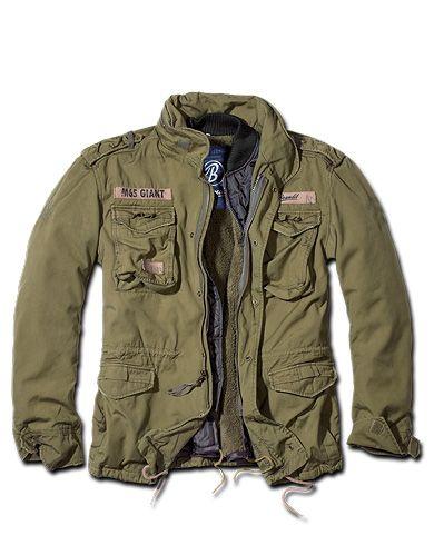 Brandit M65 Giant Jakke , Olive washed - ultimativ feltjakke ... 57ca2101ff